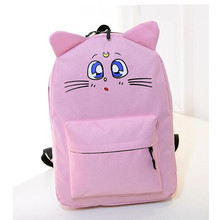 New Harajuku Backpack Sailor Moon Canvas Backpack Cute Cat Shoulder School Bags For Teenager Girls Book Bag Rucksack