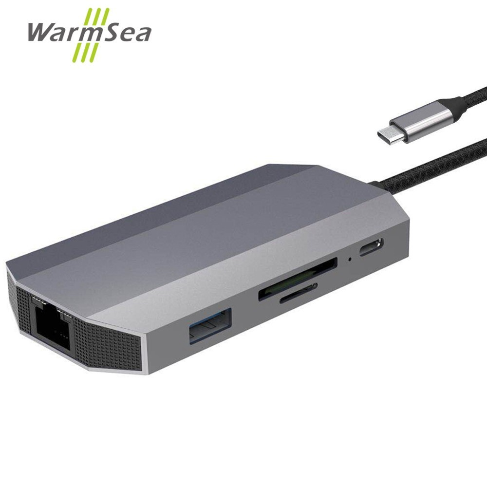 Dex Station For Samsung Galaxy Note 8 S8 S9 USB Type C HUB To 4K HDMI RJ45 USB audio aux Thunderbolt 3 Adapter for MacBook Pro usb 3 0 type c to hdmi adapter and charging converter for nintend switch macbook pro samsung galaxy s9 s8 note 8 imac