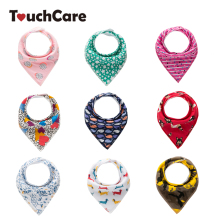 Touchcare Self-designed 4Pcs/Lot Baby Boy Girl Bibs Infant Waterproof Neckerchief Bandana Baby Bibs Toddler Baberos Burp Clothes