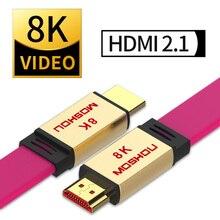 كابل HDMI 2.1 عالي القوة فائق الدقة (UHD) 8K HDMI 2.1 كابل 48Gbs مع سلك HDMI الصوت والإيثرنت 1 متر 2 متر 5 متر 10 متر 15 متر HDR 4:4:4