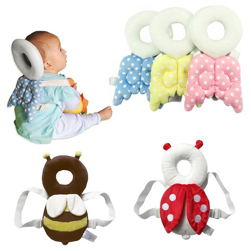 Cute font b Baby b font Toy Newborn Head Back Protection Pillow Toddler Wings Drop Resistance