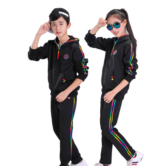 4a6bbe7a9 Autumn Spring children suit for boys sport suit girls clothes kids active  ...
