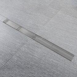 80 CM odpływ prysznic anty-zapach spustowy SUS 304 odpływ podłogowy ze stali nierdzewnej zawiera sitko do włosów łazienka odpływ wody sitko