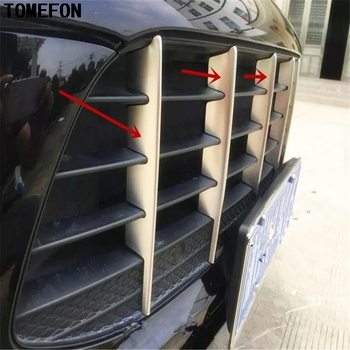 TOMEFON Stainless Steel Front Head Grille Racing Grill Accessories Moulding Auto Accessories 6PCS For Macan 2014 2015 2016 2017