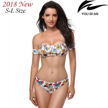 2018 New sexy women bikini floral swimwear female swimsuit low waist swim suit beach bathing wear free shipping