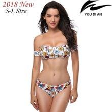2018 New sexy women bikini floral swimwear female swimsuit low waist swim suit beach bathing wear free shipping