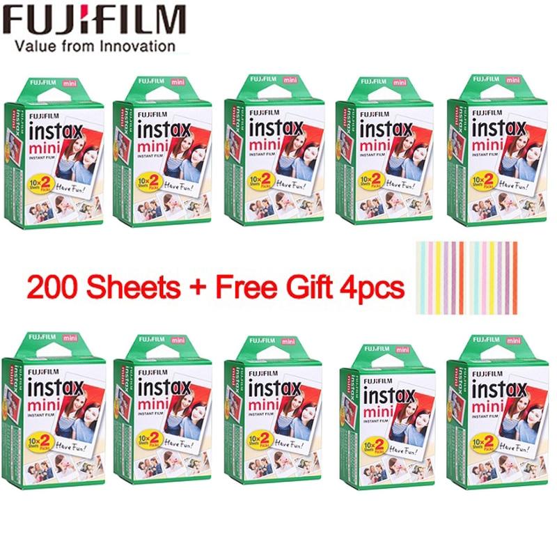 20-200 blätter Fujifilm instax mini 9 film weiß Rand 3 zoll breite film für Instant Kamera mini 8 7 s 25 50 s 90 Foto papier