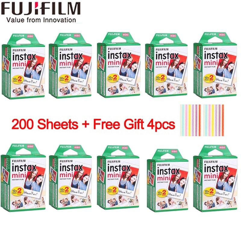 20-200 hojas Fujifilm instax mini 9 película borde blanco 3 pulgadas de ancho de la película para cámara instantánea mini 8 7 s 7 50 s 50 i 90 25 papel fotográfico