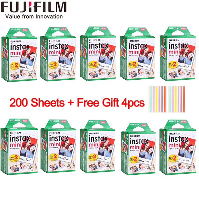 20-200 sheets Fujifilm instax mini 9 film white Edge 3 Inch wide film for Instant Camera mini 8 7s 25 50s 90 Photo paper