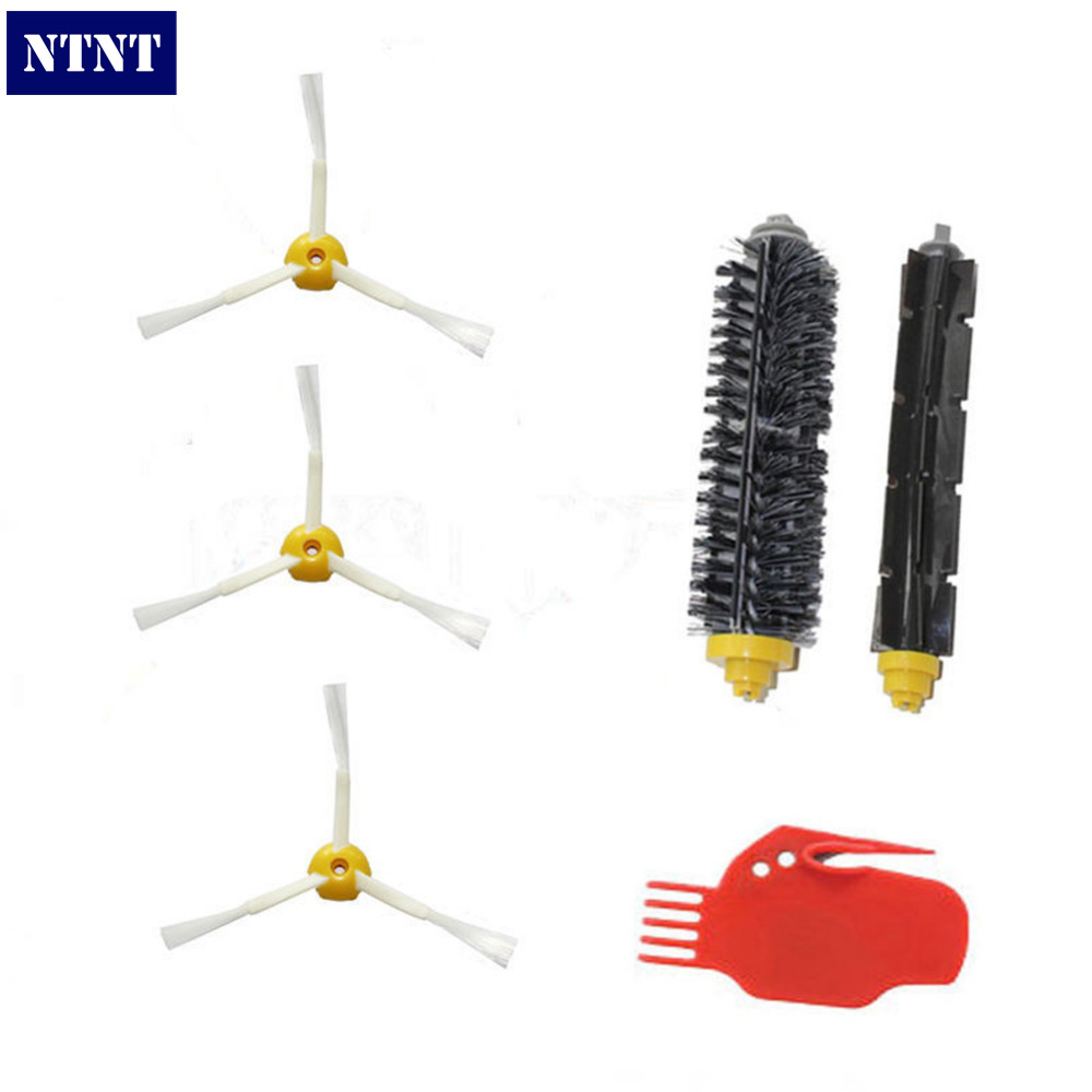 NTNT Free Post New Brush 3-armed for iRobot Roomba 700 series 770 780 790 Clean Tool Vacuum Robots bristle brush flexible beater brush fit for irobot roomba 500 600 700 series 550 650 660 760 770 780 790 vacuum cleaner parts