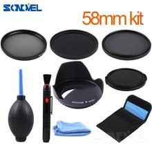 58mm ND2 ND4 ND8 Neutral Density Filter Lens Set+lens hood For Canon 1300D 800D 760D 750D 700D 100D 80D 70D 77D & EF S 18 55mm