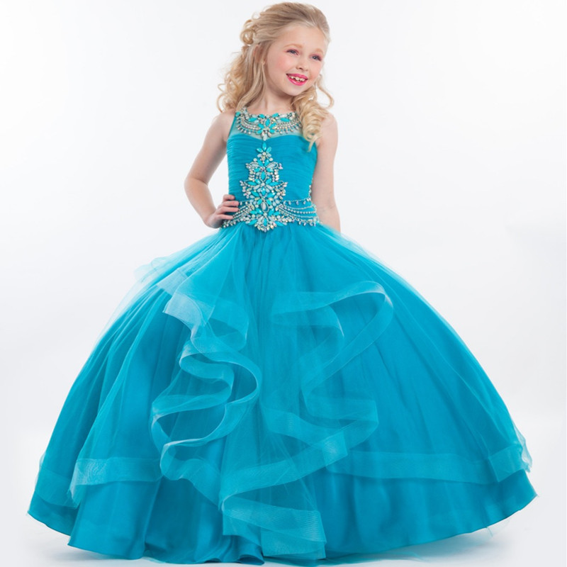 Children Dresses Lace Ball Gown Flower Girl Dresses Kids Girls Pageant Dresses Birthday Party For Girls