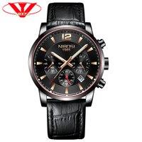 Мужские часы лучший бренд класса люкс Автоматическая Мужские часы кварцевые мужские часы в стиле милитари часы мужские синие наручные мужс