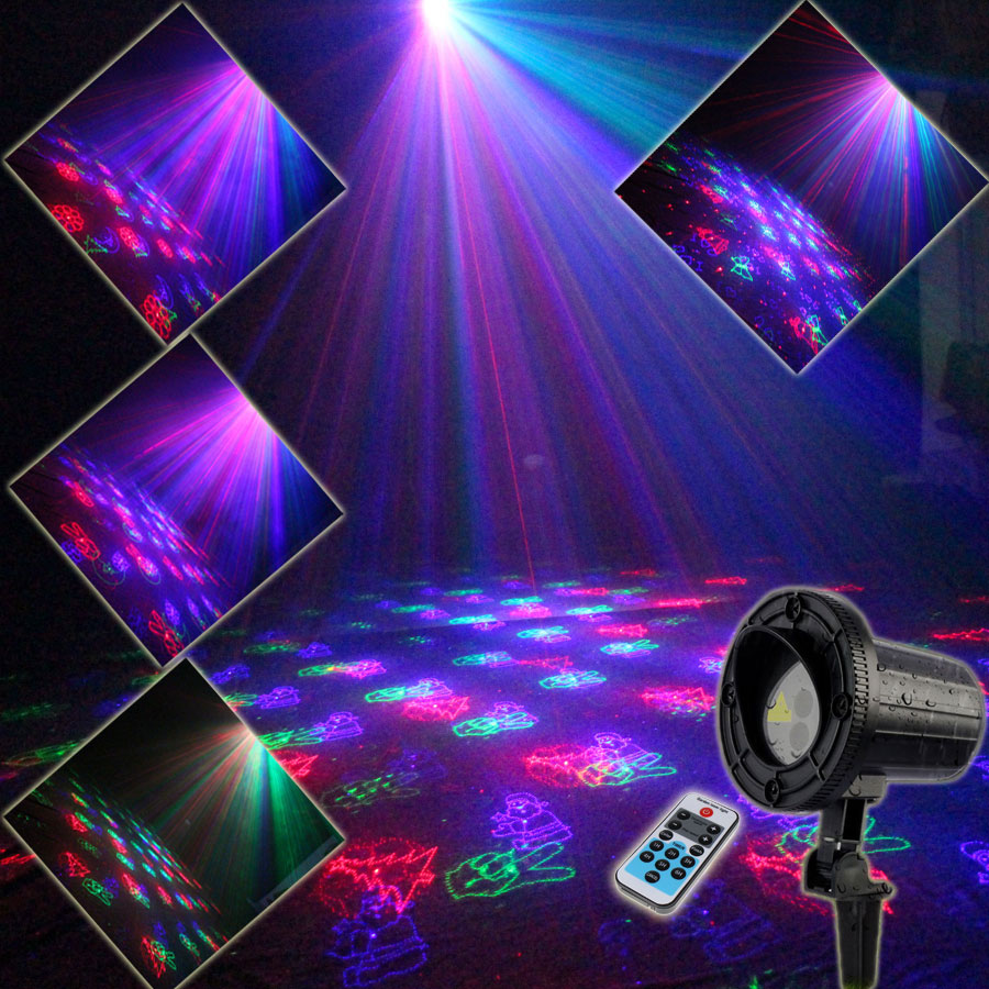 Outdoor Waterproof RGB Laser Christmas 36 Patterns Projector Holiday House Party Xmas Tree DJ Bar Wall Garden Landscape Light 86 new generation of led outdoor firefly light projector waterproof display landscape square garden tree christmas laser lighting page 9 page 10