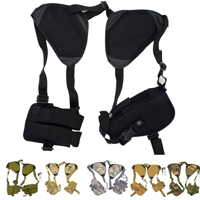 6 Colors Universal Tactical Shoulder Gun Holster with Magazine Pouch for Glock,Taurus,Springfield,Beretta,Ruger,Colt, All Others