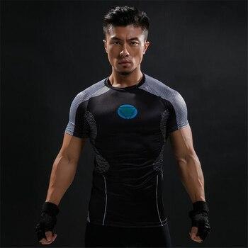 Железный человек 3 футболка новый боевой костюм Тони Старк Ironman фильм рубашка Tee Размер S-4XL ролевые игры модная футболка с короткими рукавами