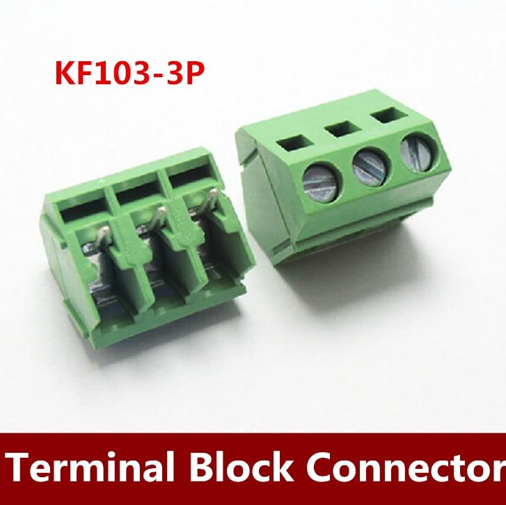 500PCS/LOT KF103 5.00mm 3Pin Binding Post Terminals Blocks