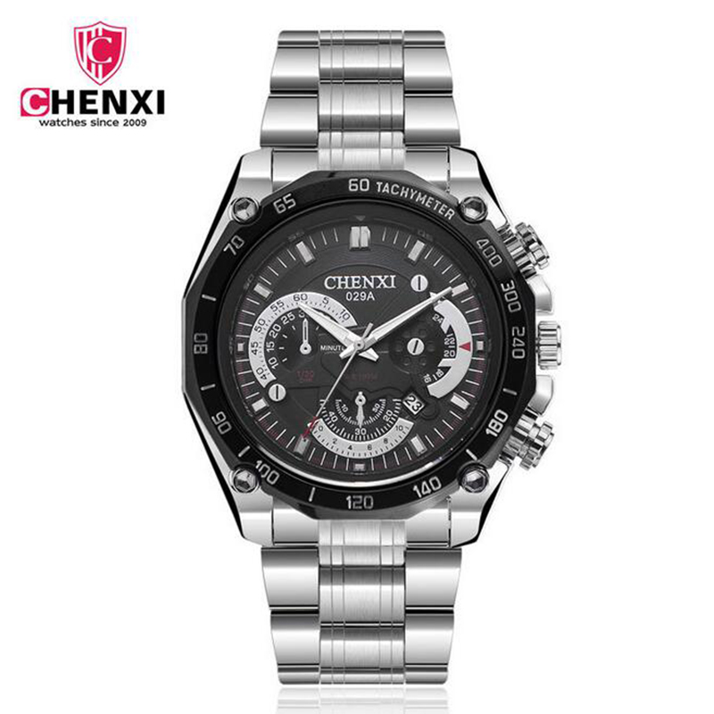 CHENXI Sport Men Watches Waterproof Stainless Steel Band Fashion Top Brand Luxury Quartz Watch Male Wristwatch Reloj Hombre infant baby girls romper lace floral sleeveless belt romper jumpsuit playsuit one piece outfit summer newborn baby girl clothes