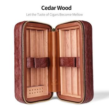 CIGARLOONG New Arrival Portable Cigar Humidor Could Hold 6 Cigars with Humidifier Cigar Humidor Travel Cigar Case Box CLA-T113-2