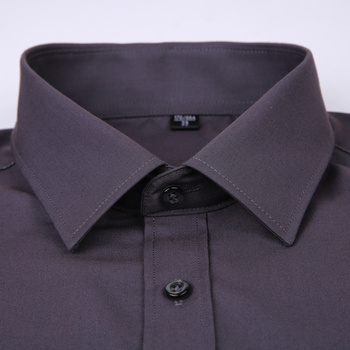 2019 New Men's Dress Shirt Solid Color Plus Size 8XL Black White Blue Gray Chemise Homme Male Business Casual Long Sleeved Shirt 1