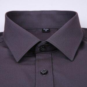 Image 2 - 2020 ใหม่ผู้ชายชุดเสื้อสีทึบPLUSขนาด 8XLสีดำสีขาวสีฟ้าสีเทาChemise HOMMEชายธุรกิจCASUALเสื้อแขนยาว