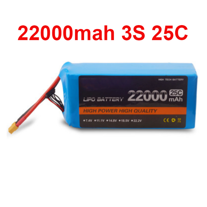 22000 mah drone battery FPV battery 11.1V 3S 25c air plane use power battery high quality lithium battery power air model high rate polymer lithium battery 20mah diy plane model parts