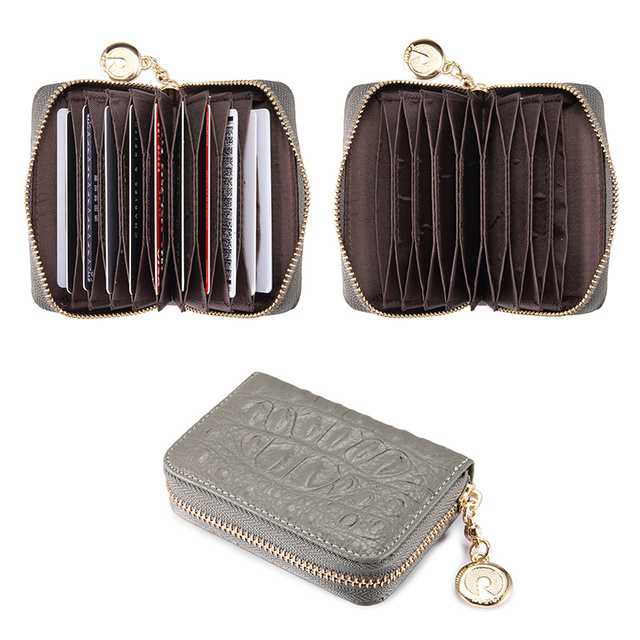 Women's Travel Coin Purse Genuine Leather Zipper Small Wallet