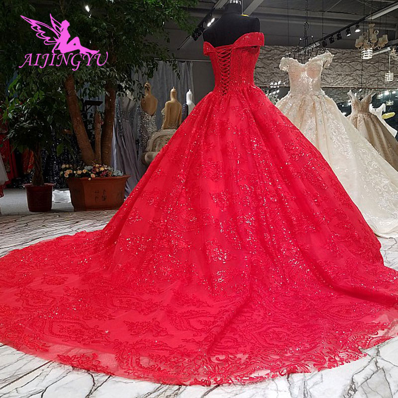 Image 3 - AIJINGYU Ivory Lace Wedding Dress Gowns Xxxl Size 2018 Balls Mother Of The Bride Gown 2019 Big Size Modest Wedding DressesWedding Dresses   -