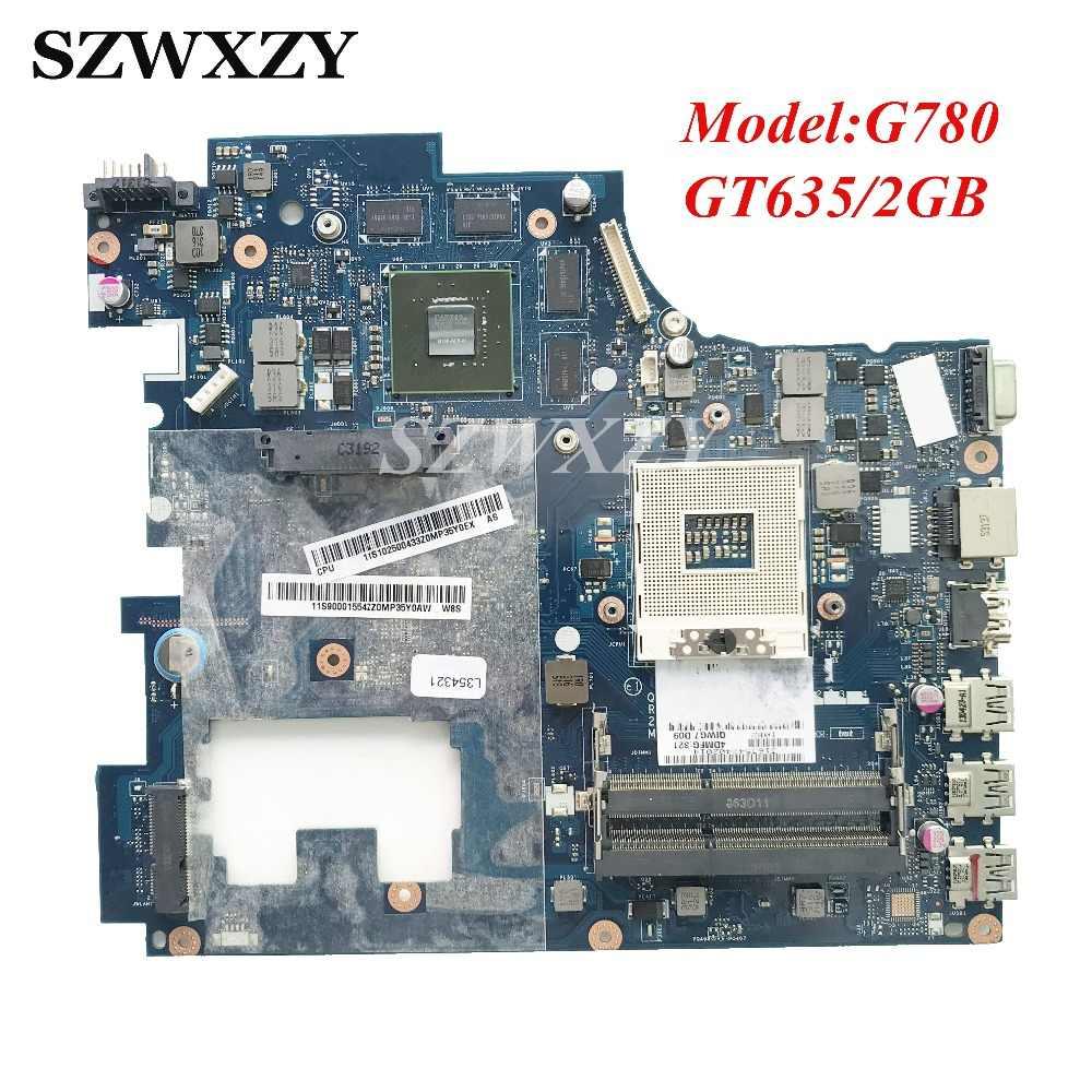 Оригинальный Для lenovo Ideapad G780 Материнская плата ноутбука QIWG7 LA-7983P GT635M 2 Гб GPU HM76 PGA989 DDR3 протестированы