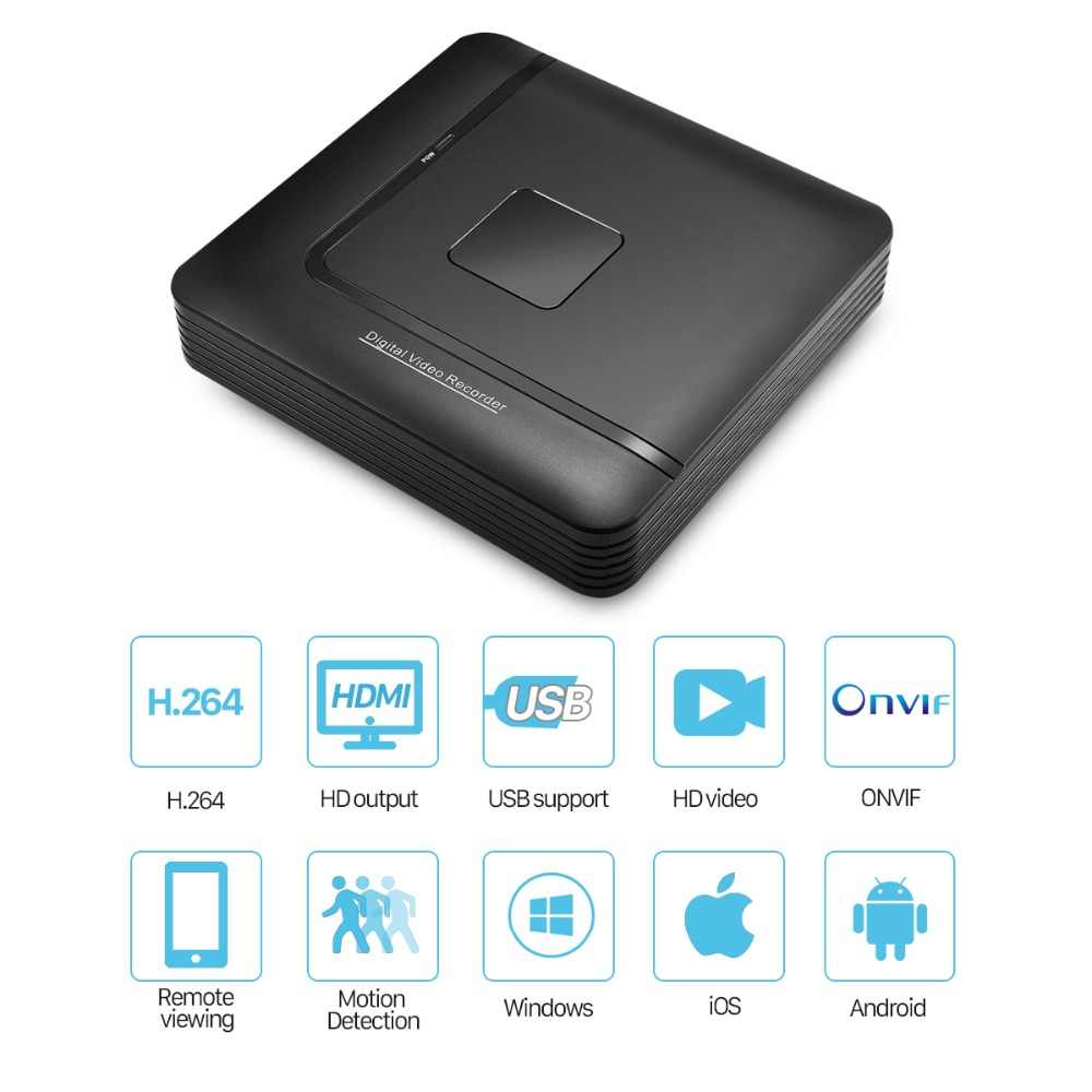 Мини CCTV NVR 4CH 8Ch для H.264 16CH для H.265 цифровой видеомагнитофон Onvif для Full HD IP Камера видеонаблюдения Системы сигнализации