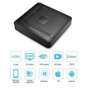 Image 2 - Mini CCTV NVR 4CH 8Ch ل H.264 16CH ل H.265 فيديو مسجل دي في أر Onvif ل كامل كاميرا شبكية عالية الوضوح الأمن نظام المراقبة إنذار