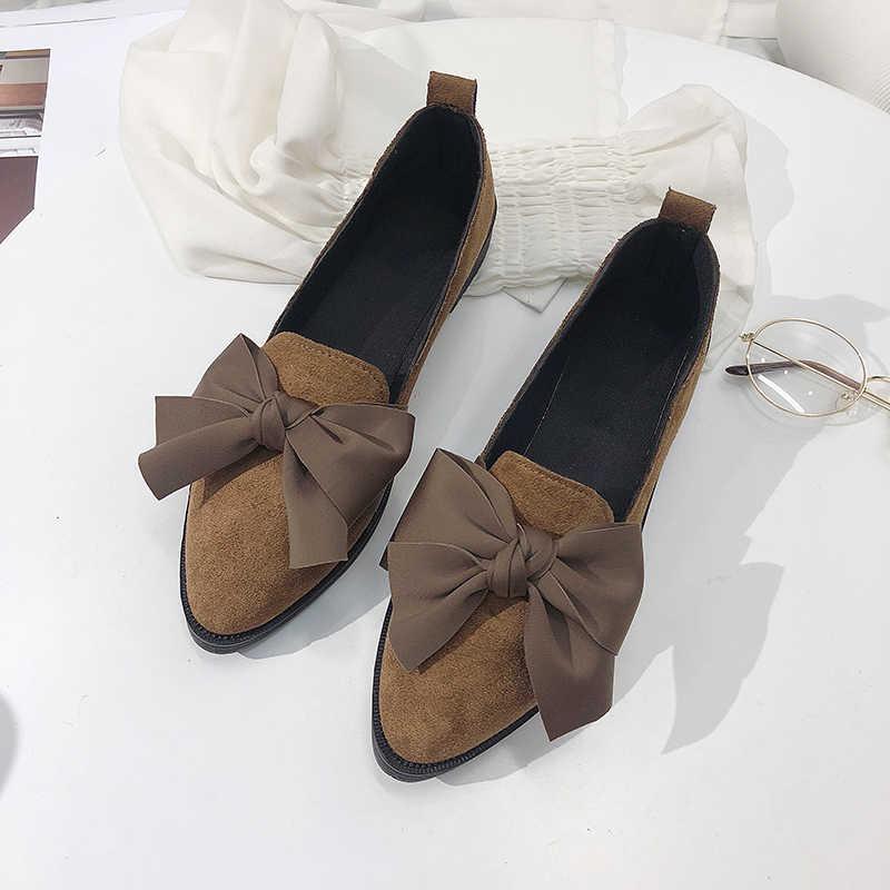 2019 Classic Merk Flats Casual Schoenen Vrouwen Strik Loafers Sexy Luipaard Oxford Slip Op Mocassins Vrouwelijke Suède Schoeisel