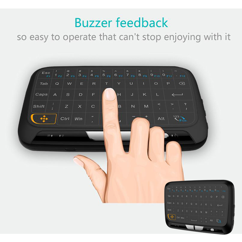 H18 Full Screen Touchpad Mini Multifunctional Wireless Keyboard Air Mouse for TV BOX/Pad/laptop/PC/Android/HTPC/IPTV/HD player 2 4g mini wireless keyboard touchpad numeric keyboard charging switch screen for desktop laptop table
