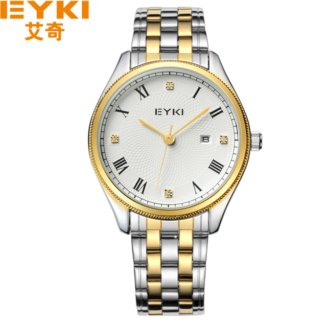 2017 New EYKI Brand Watches Men Diamond Stainless Steel Wristwatches Quartz Casual Watch Male Reloj Clocks.Lover's Wristwatches
