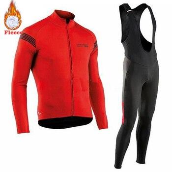 2019 Nova NW Velo Térmico Inverno Camisa de Ciclismo Bib dos homens Calças Justas Kits Conjuntos de Ciclismo Roupas Andar de Bicicleta Ao Ar Livre Sporting