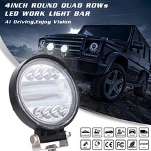 72W LED Work Light Bar Flood Spot Beam Offroad 4WD SUV Driving Fog Light Pure White 6000K Car Accessories