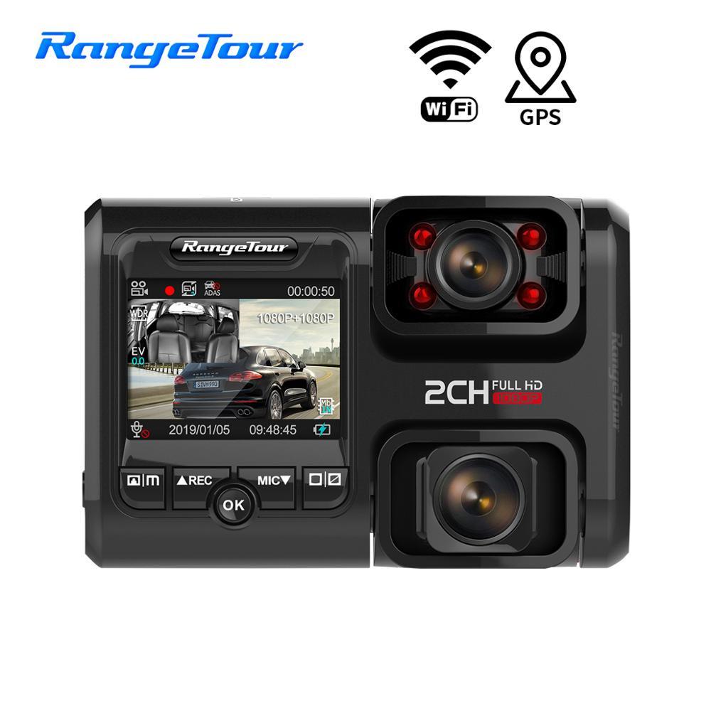 4K WiFi GPS voiture DVR D30H Dash Cam Full HD 2160P double lentille g-sensor version nocturne Uber Taxi Bus caméra