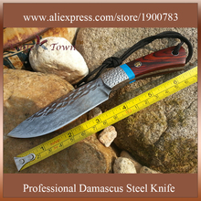 DT083 damascus steel knife Camping Knife unfolding collection gift  hunting knife tactical faca cs zakmes chasse