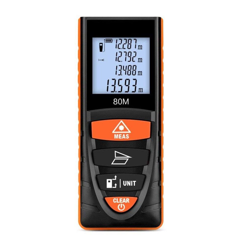 D8 80 M Ferramenta Medidor de Distância A Laser Telêmetro Laser Medidor de Medição da Altura Instrumento Medidor de Distância A Laser