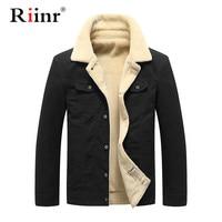 Riinr Fashion Winter Bomber Jacket 2019 Men Jacket Outerwear Cotton Thick Fur Collar Warm Military Tactical Mens Jacket Coat