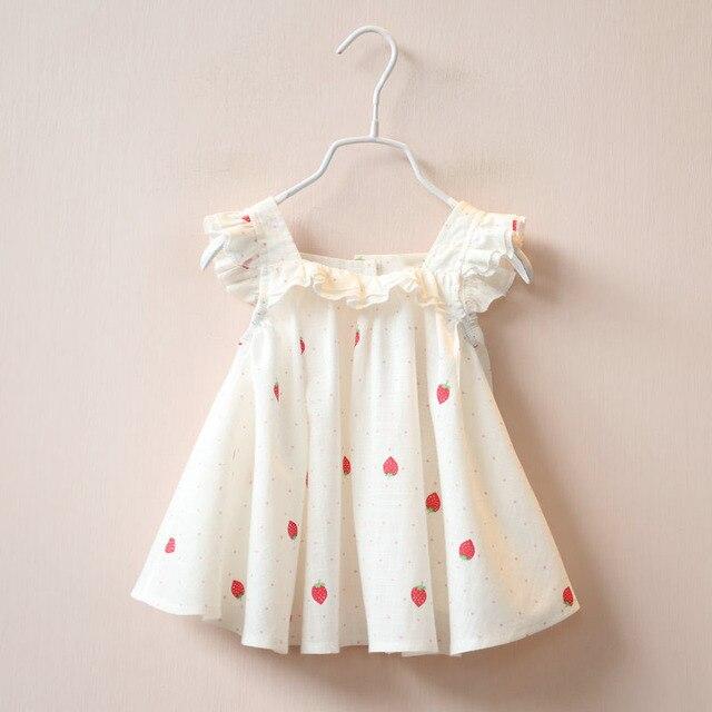 New Arrival Summer Girl Dress Print Pattern Children Fashion Dresses for Girls Baby Girl Clothes Sleeveless Girls Dresses