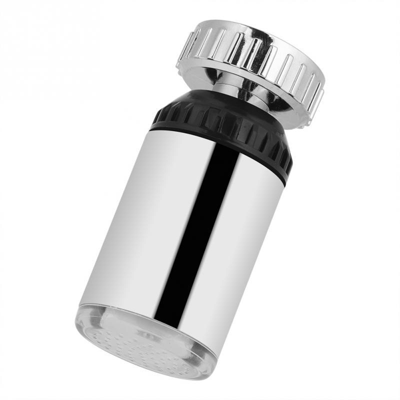 Sensitive Faucet Light 360 Degree Rotating 3 Color Change <font><b>LED</b></font> Sink Basin Faucet Kitchen <font><b>Water</b></font> Tap Temperature Sensor Tap <font><b>Aerator</b></font>