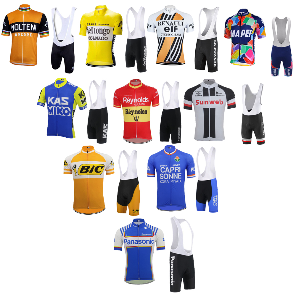 Tour de France Cycling jersey bike wear jersey set bib shorts gel pad Summer Breathable cycling clothing MTB ropa Ciclismo new sunweb cycling jersey men set short sleeve team bike wear jersey set bib shorts gel pad cycling clothing kit 3 style mtb