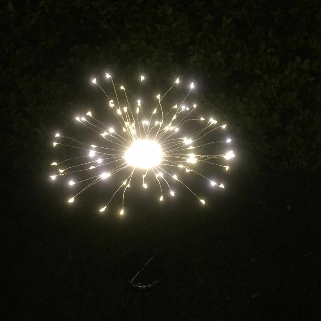 90LED 太陽光発電ガーデンライトクリスマスライト屋外花火 LED 芝生ランプ 19Mar28
