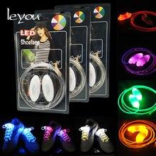 цены Leyou 5 Pairs Flash Light Lazy Shoelaces Round Led Shoe Laces Light Glow Shoe Strings Luminous No Tie Child Shoe Laces