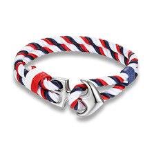 Men Charm Anchor hook Bracelet
