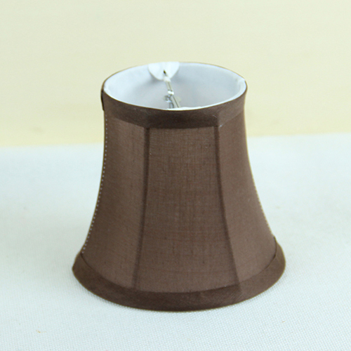 Chocolate Brown Fabric Wall Lamp Shades Covers Modern Chandelier Mini Shade Clip On