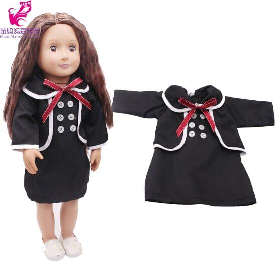 5cf6f86c0759 Vestiti per le bambole vestito nero vestito per 45 cm della bambola della  ragazza di 18 pollici bambola vestito per il nuovo nato bambino bambola e  ...