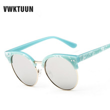 2017 Brand Designer Round Sunglasses Women Oculos UV400 Sun glasses Female Eyewear Women's Lunette Mirror Shades Outdoor Sports