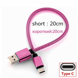 Short USB Type C usb fast Charging Cable For Xperia 1 10 L1 L2 L3 XZ XZ3 XA1 XA2 Ultra Galaxy A50 A51 A21S S10 Redmi Note 8 pro